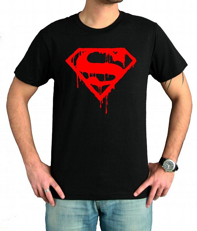 Bloody Superman Logo T Shirt Colors BlackWhite Sizes S XXL