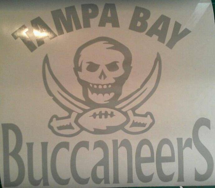 New TAMPA BAY BUCCANEERS Cornhole Decals - Window Decals Ready To Apply 5 Year