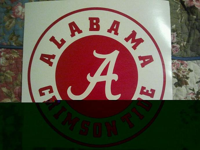 Alabama Crimson Tide Cornhole Decals - Ready To Apply 5 Year Outdoor Vinyl