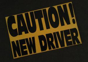 Caution New Driver Car Magnet - Let Drivers Know You Have A Student Driver