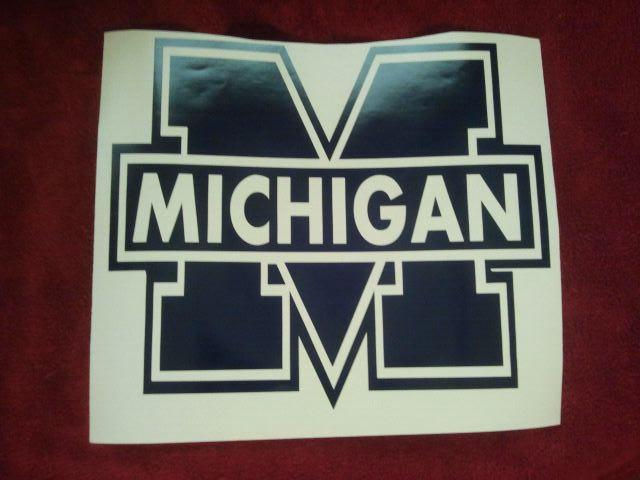 MICHIGAN WOLVERINES BLUE Cornhole Decals - Ready To Apply 5 Year Outdoor Vinyl