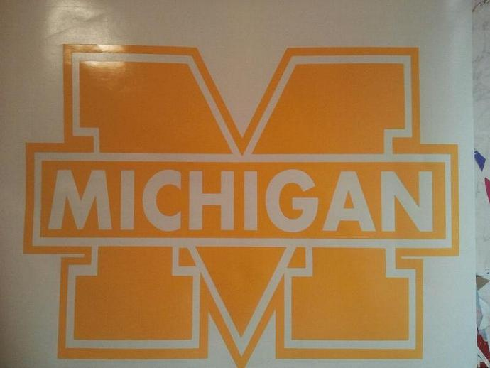 Univ of Michigan Cornhole Decals Vinyl Decals - Ready To Apply
