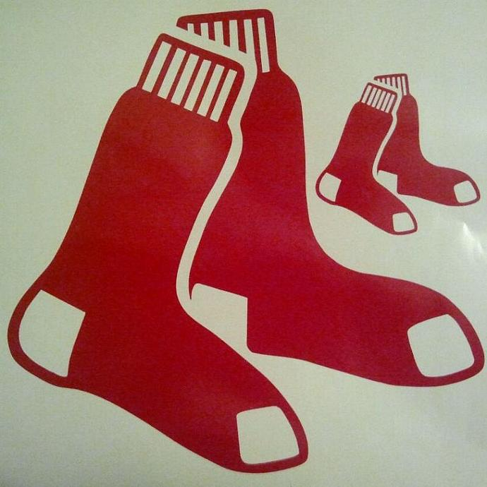 Boston Redsox Baseball Cornhole Decals - Ready To Apply 5 Year Outdoor Vinyl