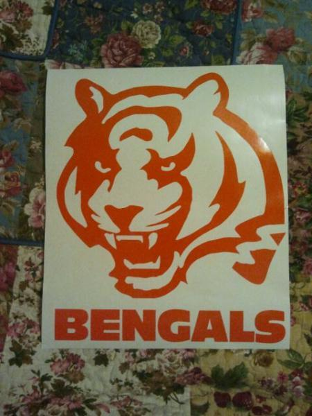 New Cincinatti Bengals Cornhole Decals - Ready To Apply 5 Year Outdoor Vinyl