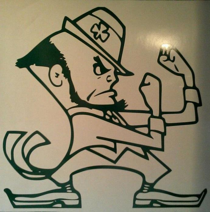 Notre Dame Fighting Irish Cornhole Decal - 1 Ready To Apply 5 Year Outdoor Vinyl
