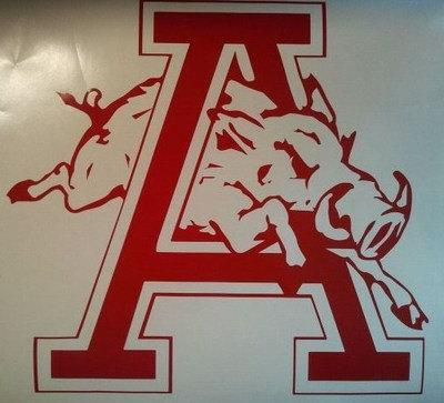 New ARKANSAS RAZORBACKS Cornhole Decals - Window Decals Ready To Apply 5 Year