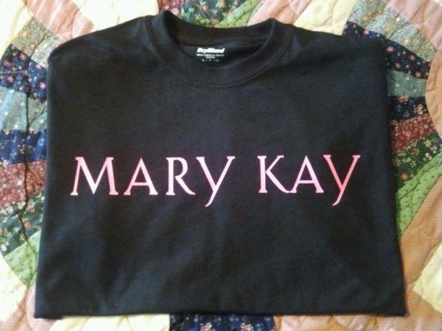 MARY KAY HOT Pink On Black Tee All Sizes - Dry Blend Cotton Long Sleeve