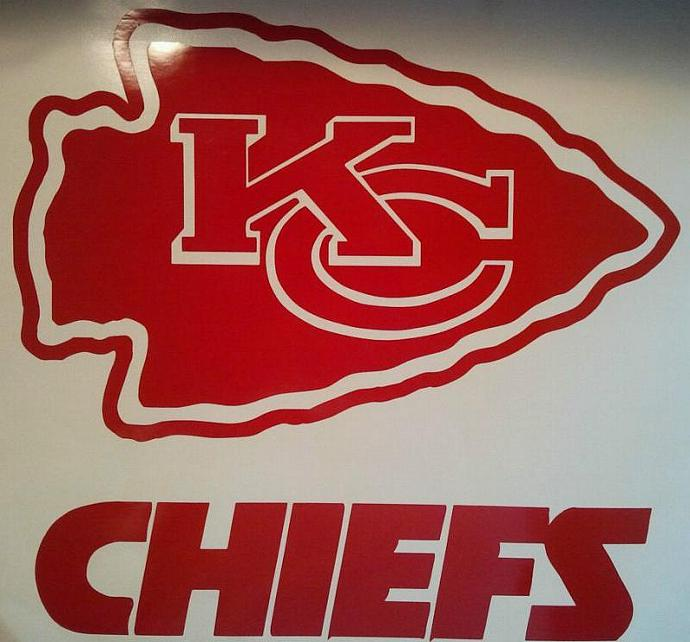 Kansas City Chiefs Window Decals - Ready To Apply 5 Year Outdoor Vinyl