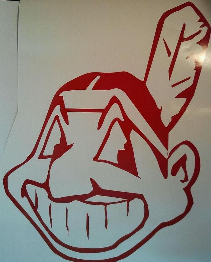 New Cleveland Indians Window Decals - Quality Vinyl Ready To Apply 5 Year