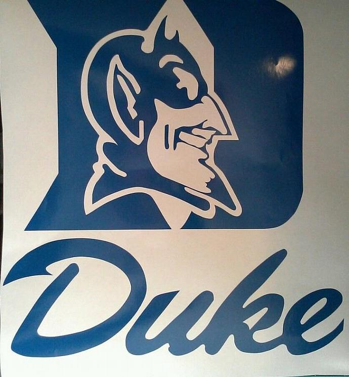 New Duke University 5.5 Inch Window Decal - Ready To Apply 5 Year Outdoor Vinyl