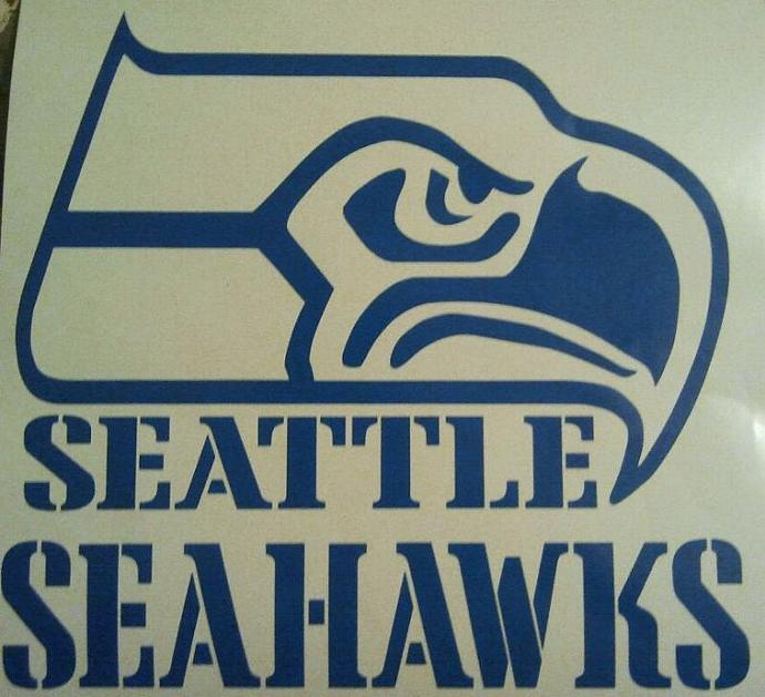 Seattle Seahawks Football 5.5 Inch Decal - Ready To Apply 5 Year Outdoor Vinyl