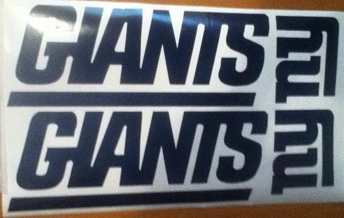 New York Giants Vinyl Decal Set Of 2 Cornhole Gameboards Cornhole Decals -