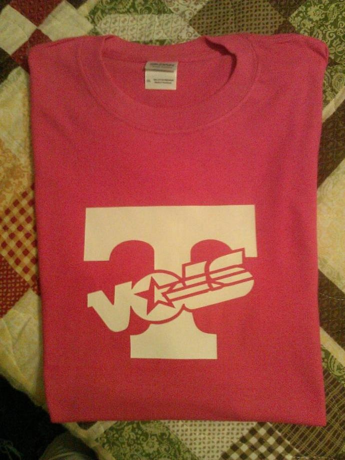 Tennessee Volunteers White On Hot Pink Tee All Sizes - Dry Blend Cotton Long