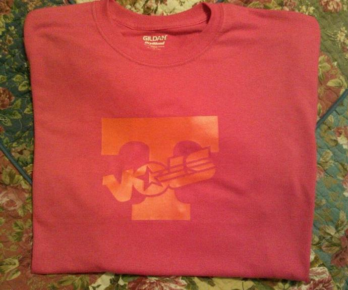 Tennessee Volunteers Orange On Hot Pink Tee All Sizes - Dry Blend Cotton Long