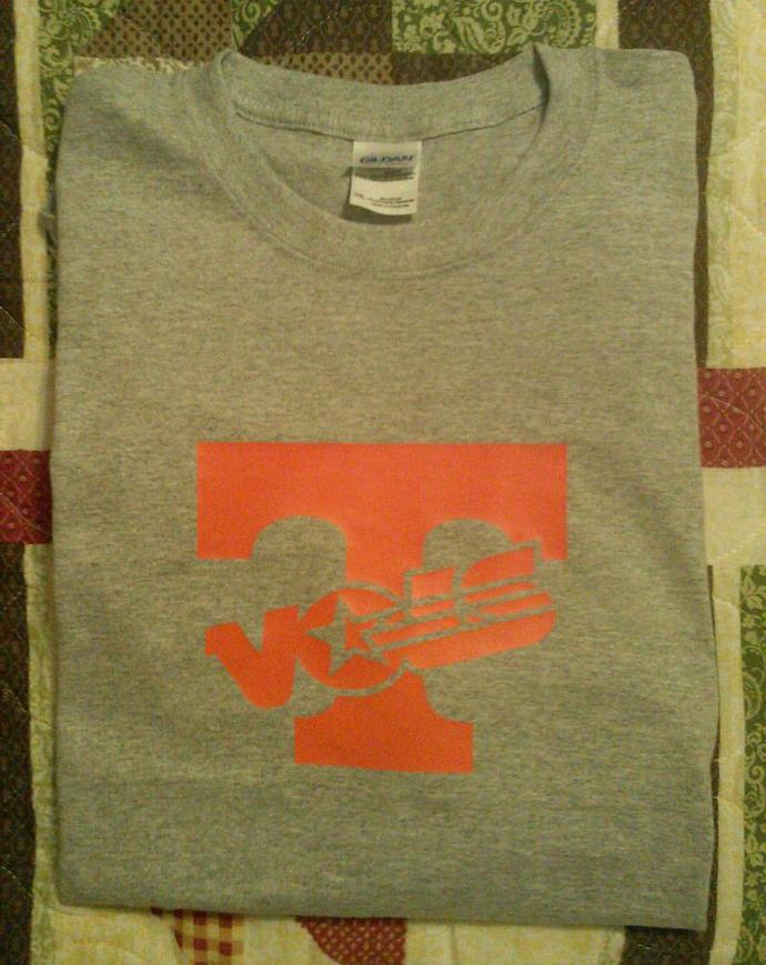 Tennessee Volunteers Orange On Gray  Tee All Sizes - Dry Blend Cotton Long