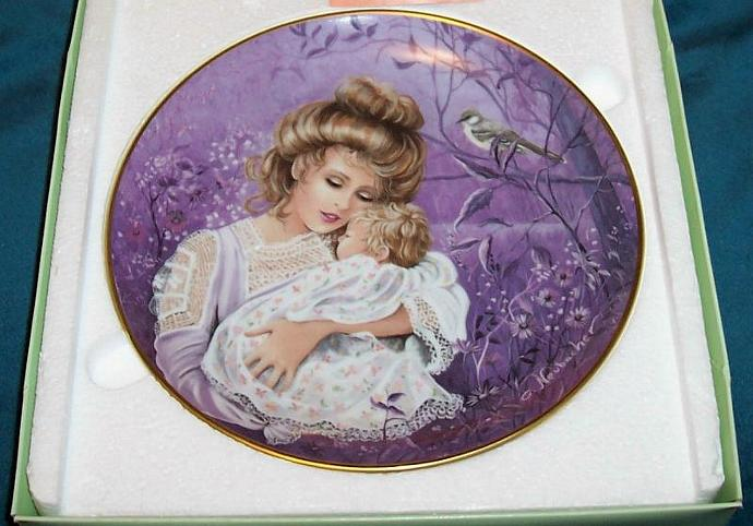 "Kaiser W. Germany Plate ""The Mockingbird"" Classic Lullabies of the World/ Sweet!"