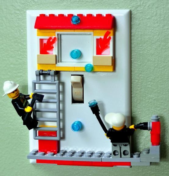 Firefighters LEGO® Light Switchplate