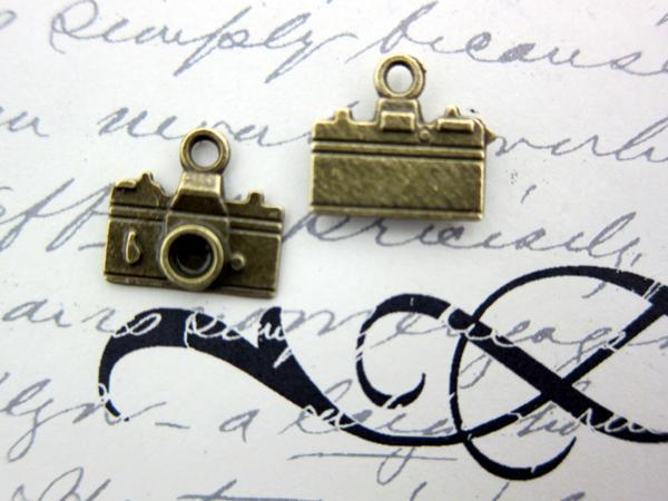 10pcs Photo Cameras Set - Vintage Bronze