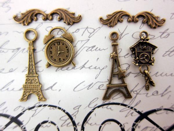6pcs Time in Paris Set - Bronze