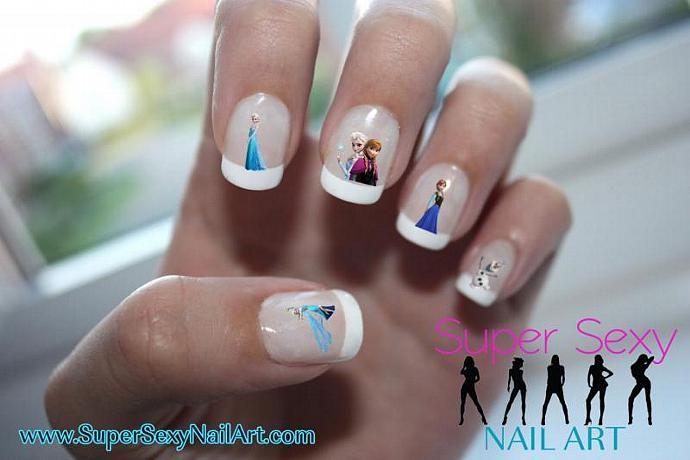 Frozen Elsa Anna Disney Princess Nail Art By Supersexynailart On