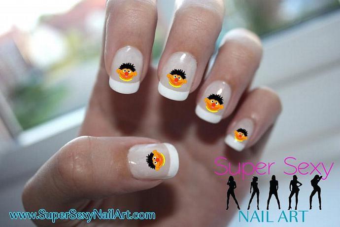 Ernie Sesame Street Nail Art Nail Art Supersexynailart
