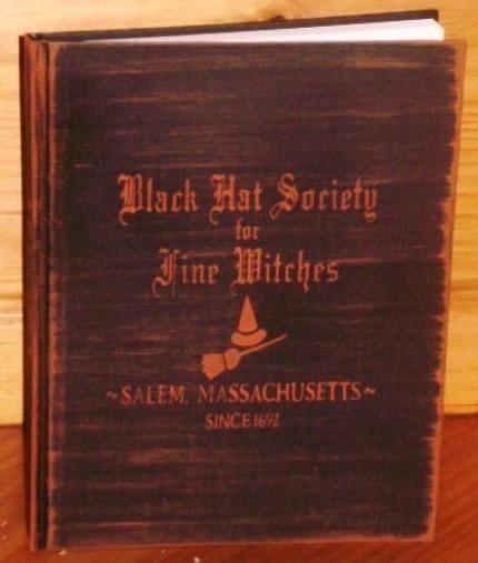Witchcraft Black Hat Society Primitive Witch Blank Journal Halloween decorations