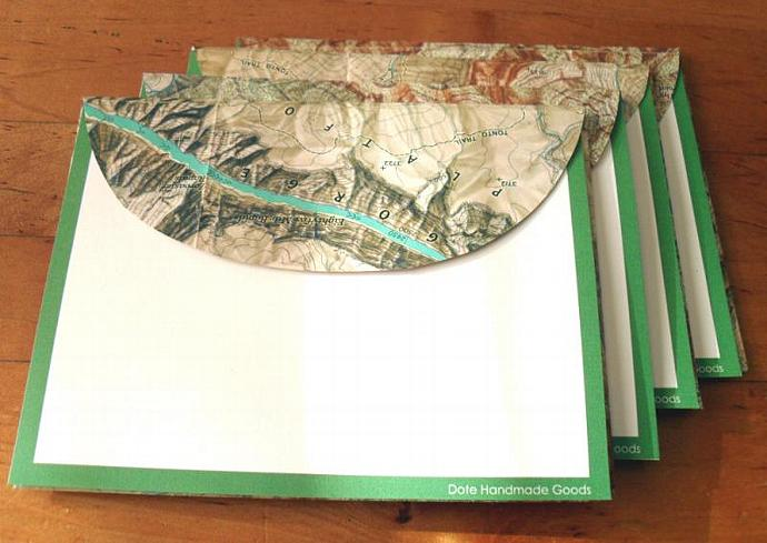 Recycled Map Stationery - 1978 Grand Canyon