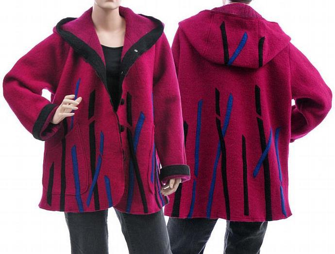 e768229059b0f Handmade artsy boho hooded jacket