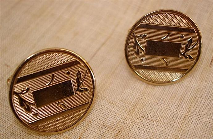 3 Pair Vintage Men's Cuff Links Classic Styling