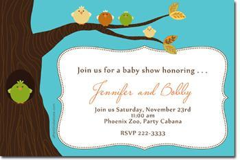 Let's Feather Her Nest Baby Shower Invitations (download jpg immediately)