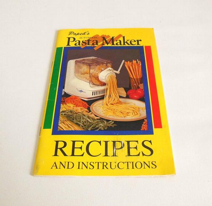 Popeil p400 pasta maker instruction manual | lauraslastditch.