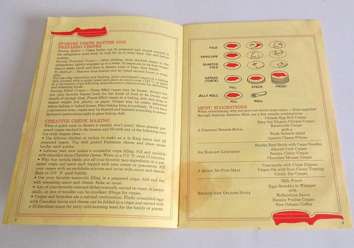 Oster Creperie Instruction Manual Recipe Booklet