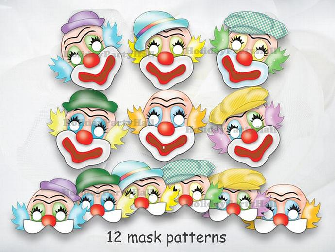 set unique funny clown masks birthday holidaypartystar