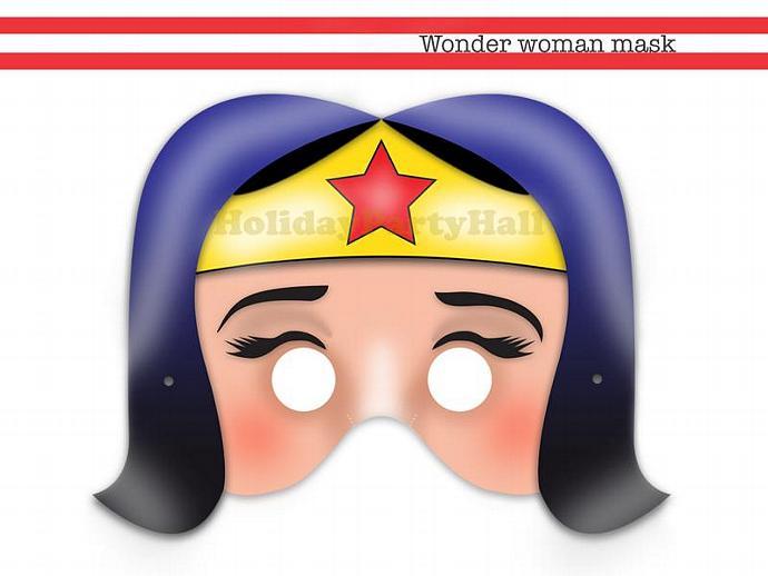 Unique Wonder Woman Printable Mask,wonder-woman,superhero,girl mask ,party