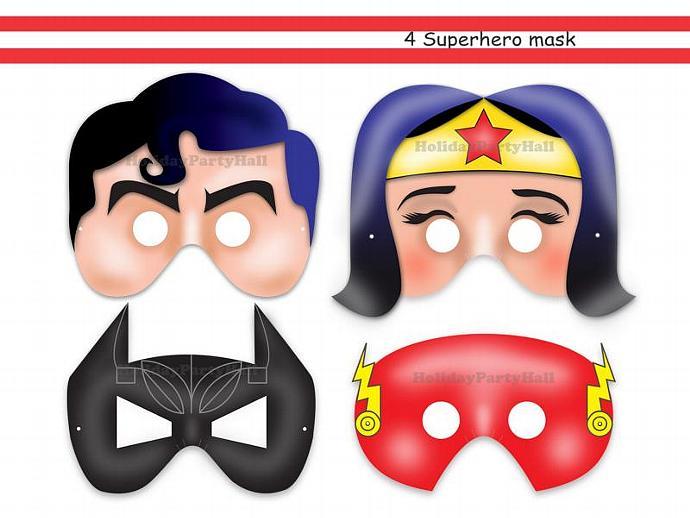 Unique Superheroes Printable Maskswonder HolidayPartyStar