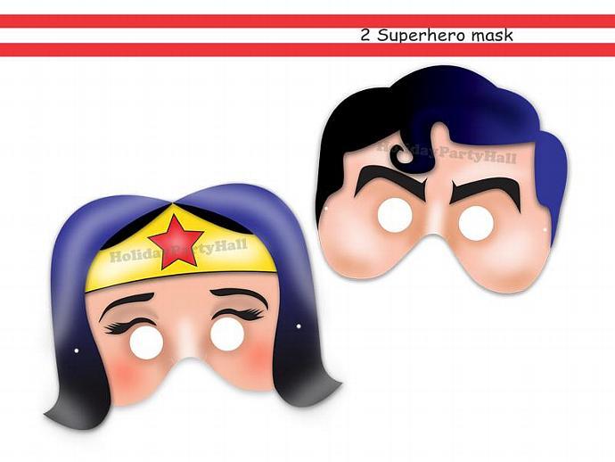 Unique Superheroes Printable Masks,wonder woman,superhero,mask super