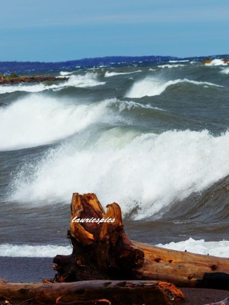 Original Photography, 8x10 print, Waves on Lake Superior, Lake Superior print,