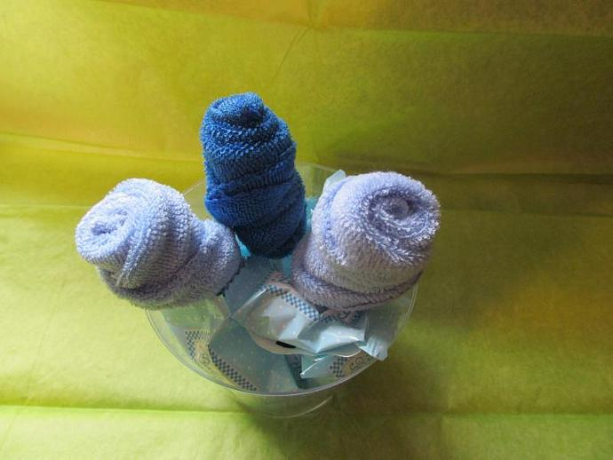 Baby Washcloth Bouquet - Made-to-Order Baby Shower, Mother-to-be, Gift, Candy,