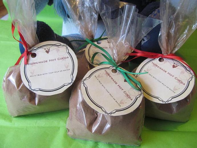 Homemade Hot Cocoa Mix- Wedding Favor, Party Favor, Stocking Stuffer- Set of 12