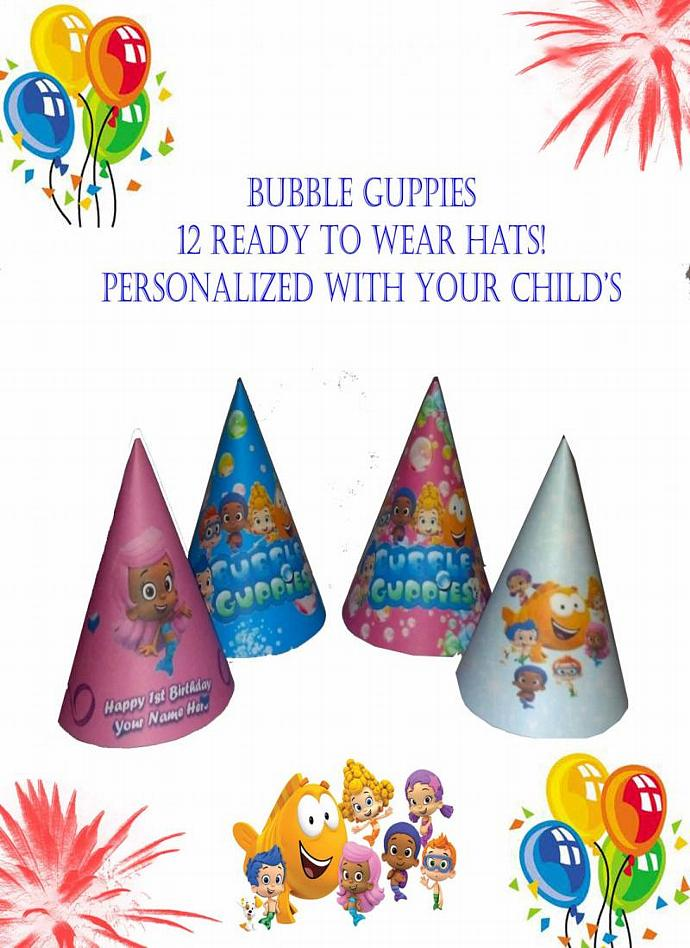 Bubble Guppies Birthday Party Hats By Tracyhughes81 On Zibbet