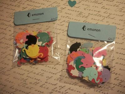 SALE // Assorted color baby elephants confetti / 500ct