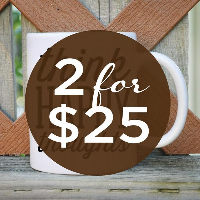 SALE >> 2 {Regular} Coffee Mugs for 25 - Tickled Teal