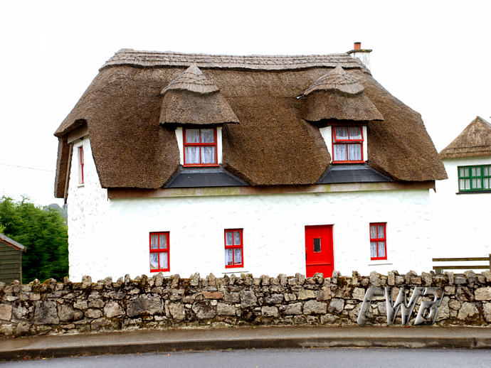 Irish Thatched Roof Cottage fine art print