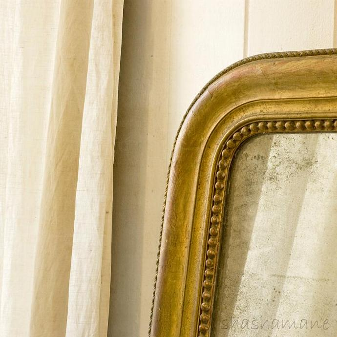 "Open to reflection - Shabby chic mirror 5 x 5"" fine art photography print"