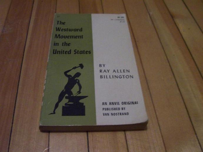 The Westward Movement In the United States 1959 Paperback Ray Allen Billington