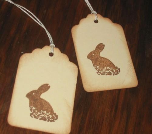 Chocolate Easter Bunny Hang Tags