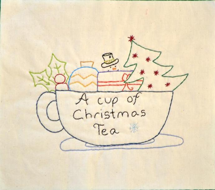a cup of christmas tea pdf stitchery pattern