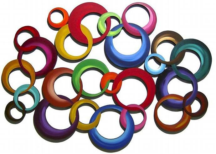 JUMBO Cluster CIRCLE WaLL Sculptures by Alisa R Tarpley / Diva Art69 Studios -