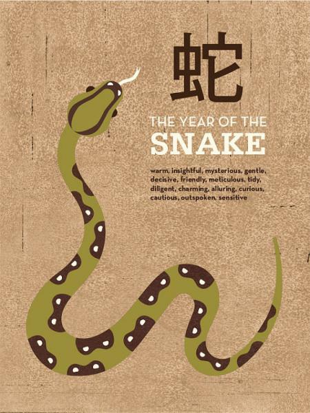 YEAR OF THE SNAKE Oversized Archival Print