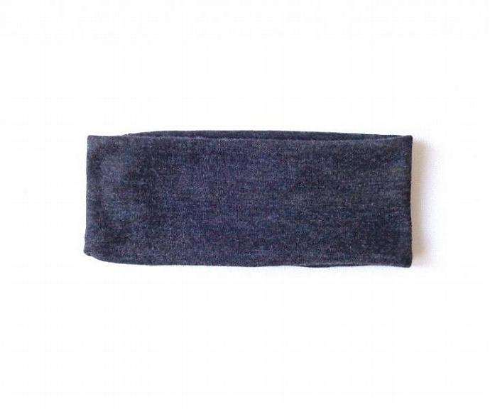 charcoal gray winter woman headband hair accessory cute head bands solid grey